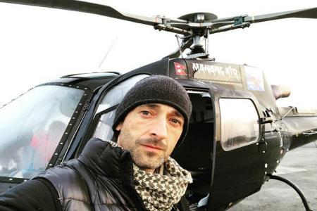 46-year-old Oscar-winning actor Adrien Brody visits in Nepal