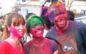 Nepal Celebrating Holi Festival