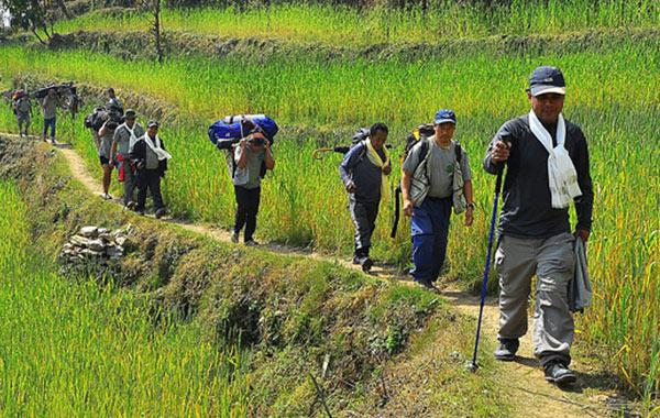 Director of Trekking Mart lead lower Manaslu exploration Trip 2012