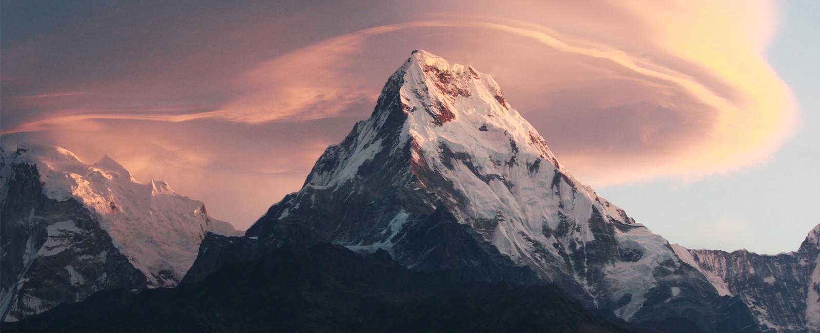 Annapurna himalayan range from Poon Hill