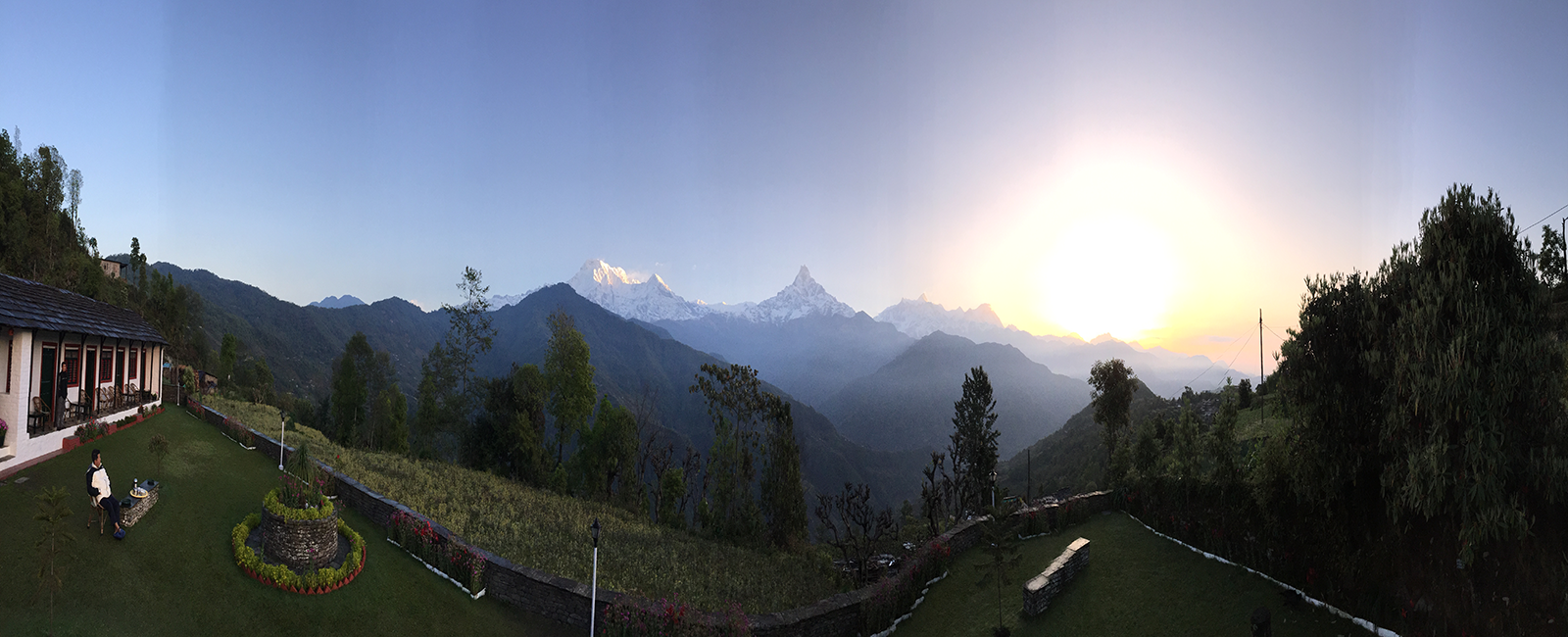 Panoramic View of Dhampus (Basanta Lodge)