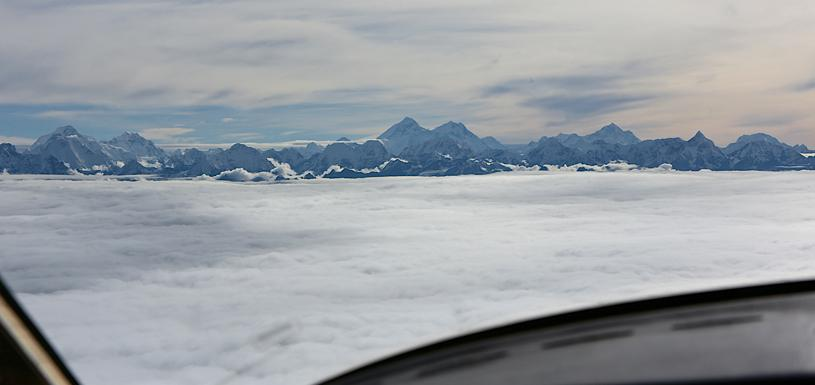 Amazing view from mountain flight
