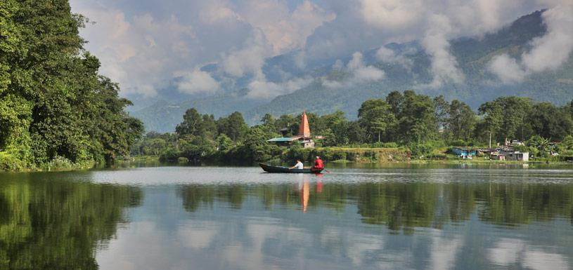 Boating in Phewa Lake at Pokhara