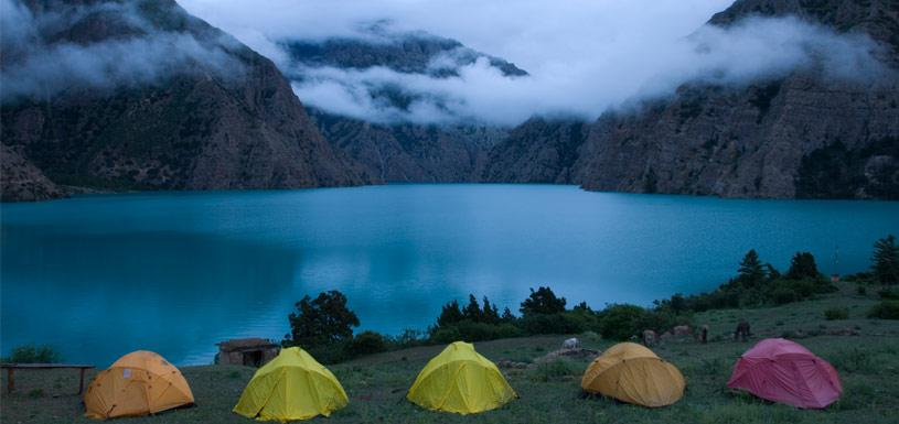 Camping around Phoksundo Lake