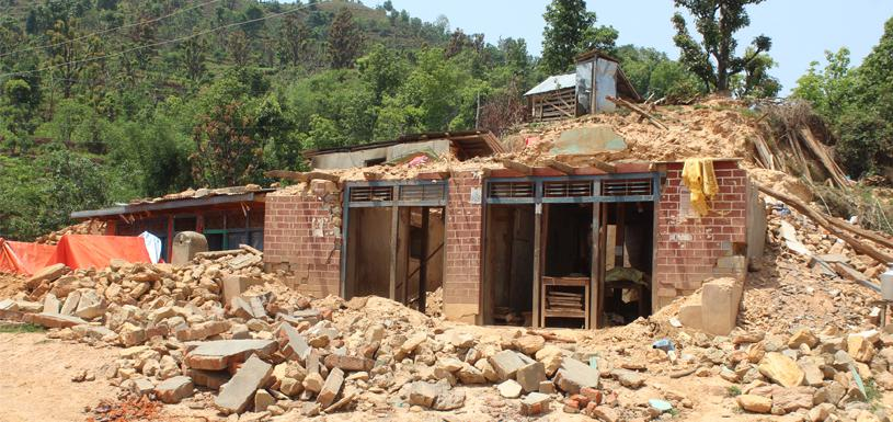 Disaster by earthquake in Gorkha