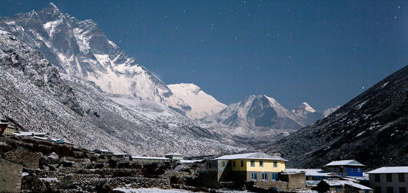 Everest view from Dingboche