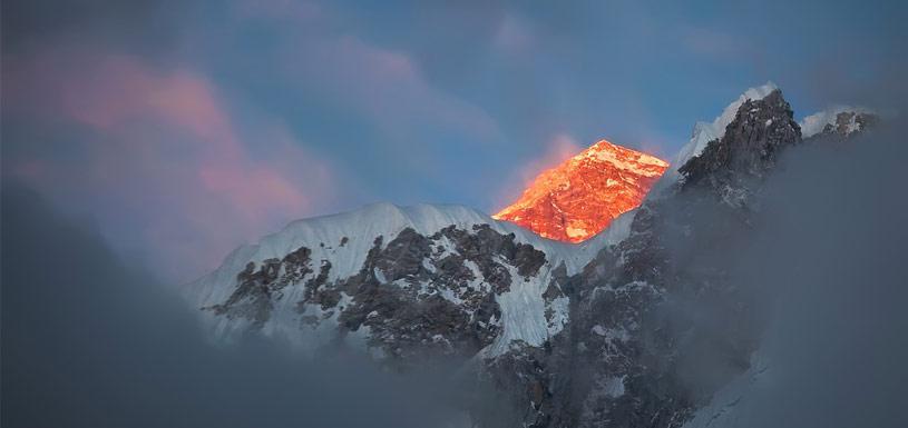 Beautiful Sunrise at Everest