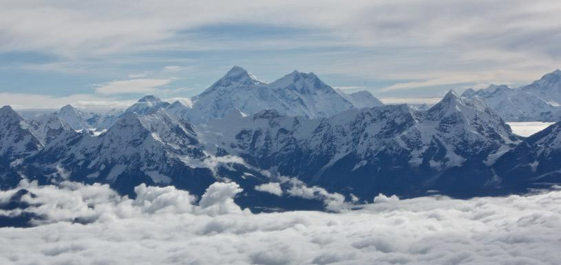 Everest View from Helicopter