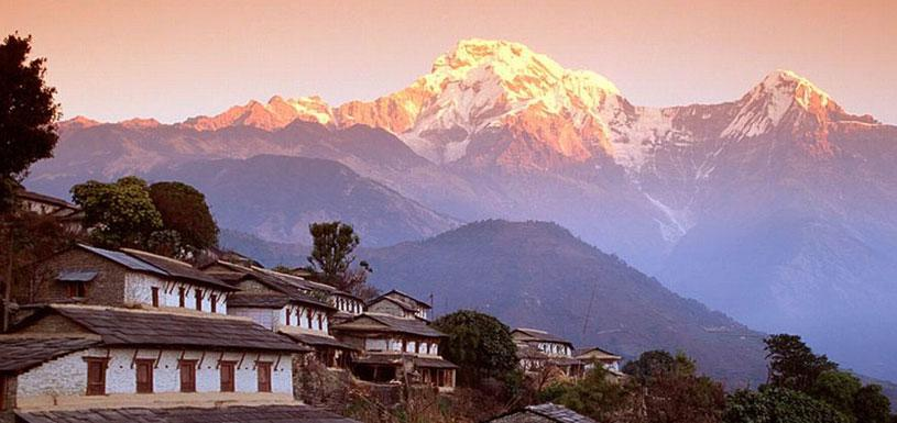 Beautiful Ghandruk Village on the foothill of Annapurna mountains