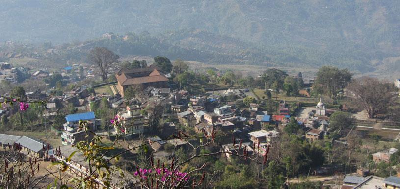 The ancient town- Gorkha Bazaar with Gorkha Museum at the center