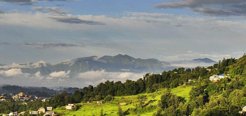 Beautiful view of Fulchoki from Sundarijal