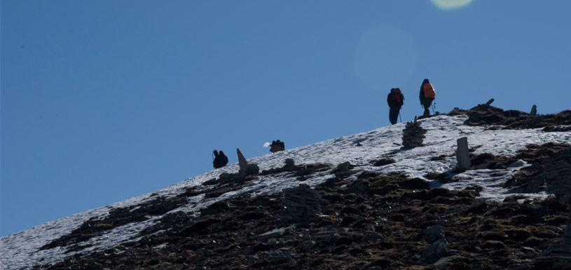On the way to Thorong La pass