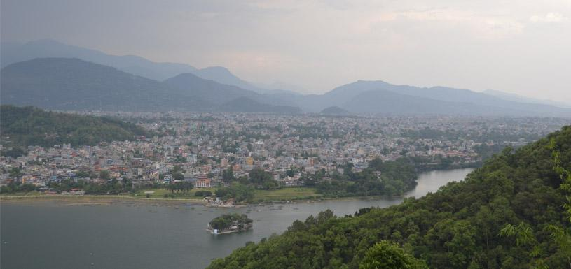 View of Pokhara from Sarangkot hill