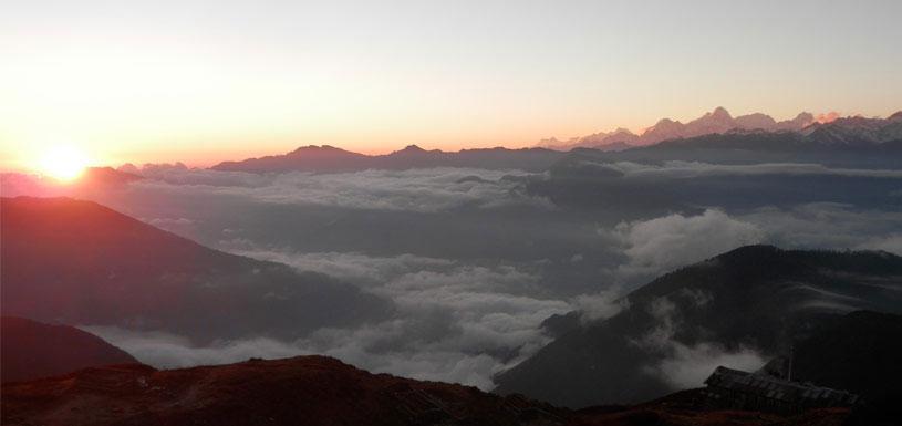 Sunrise over Langtang range