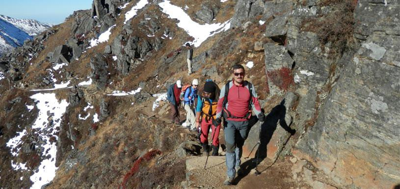 Trekking towards Gosainkunda Lake