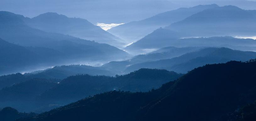 Series of landscapes seen from Dhulikhel