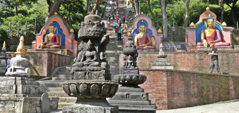 Way to Swayambhunath