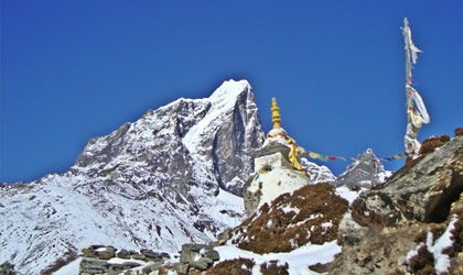 Cultural monument at Everest region