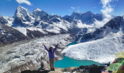 Guest at Gokyo lake