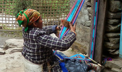 Traditional cloth weaving